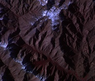 The Andes Mountains as seen from ISSAC.
